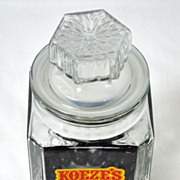 Koeze ~ Large Cut Glass Candy Jar w/ Lid