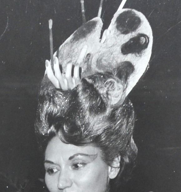 1960s surreal hand in hair art palette orig 8 x 10 for Surreal salon 8