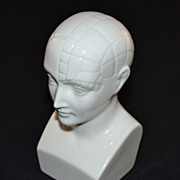 1950s Boehm ~ Antipsychotic Etrafon Porcelain Phrenology Head