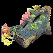 Huge Aquarium Faux Wood Log w/ Flowers & Foliage