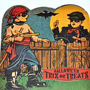 1940/50s Rosen ~ Halloween Lollipop Candy Card Holder