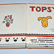 1947 Topsy the Dog Hardcover Children's Book