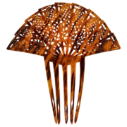 Huge Art Deco Faux Tortoise Shell Celluloid Hair Comb