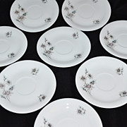 1950s Georges Boyer ~ Set of 8 Limoges Porcelain Saucers