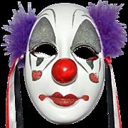 1989 UCGC Hand-painted Porcelain Clown Face Mask