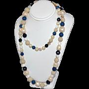 """1970s Liz Claiborne ~ 30"""" Faux Pearl Bead Necklace"""
