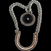 Sterling & Onyx w/ Horseshoe Pendant