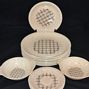1950s Vernonware ~ Heyday ~ 14-Pc Dinnerware Set