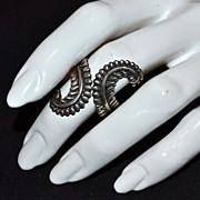 Balderas ~ Taxco Sterling Eagle 3 Feather Ring