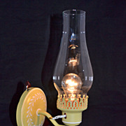 1970s Mustard Yellow Hurricane Wall Arm Lamp