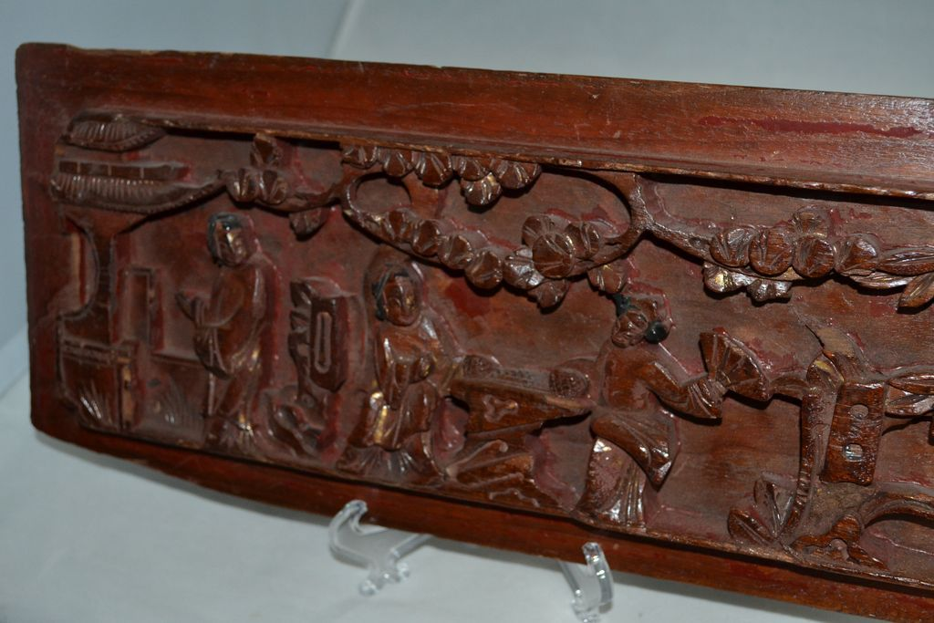 Antique Asian Wood Panel Architectural Salvage from