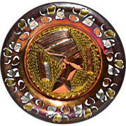 Queen Nefertiti Mixed Metal Egyptian Souvenir Wall Plate