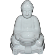 Japanese Buddha Blanc de Chine Style Porcelain Incense Burner