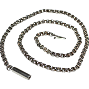 Fine Victorian Antique Sterling Silver Rolo or Belcher Necklace