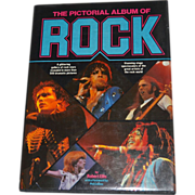 1981 The Pictorial Album of Rock Hardcover Book by Robert Ellis