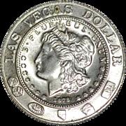 1981 C & J Creations Las Vegas Dollar 'Entertainment Capitol of the World' Token Coin