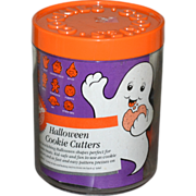 Wilton Set of 10 Halloween Cookie Cutters in Original Canister w/ Recipe