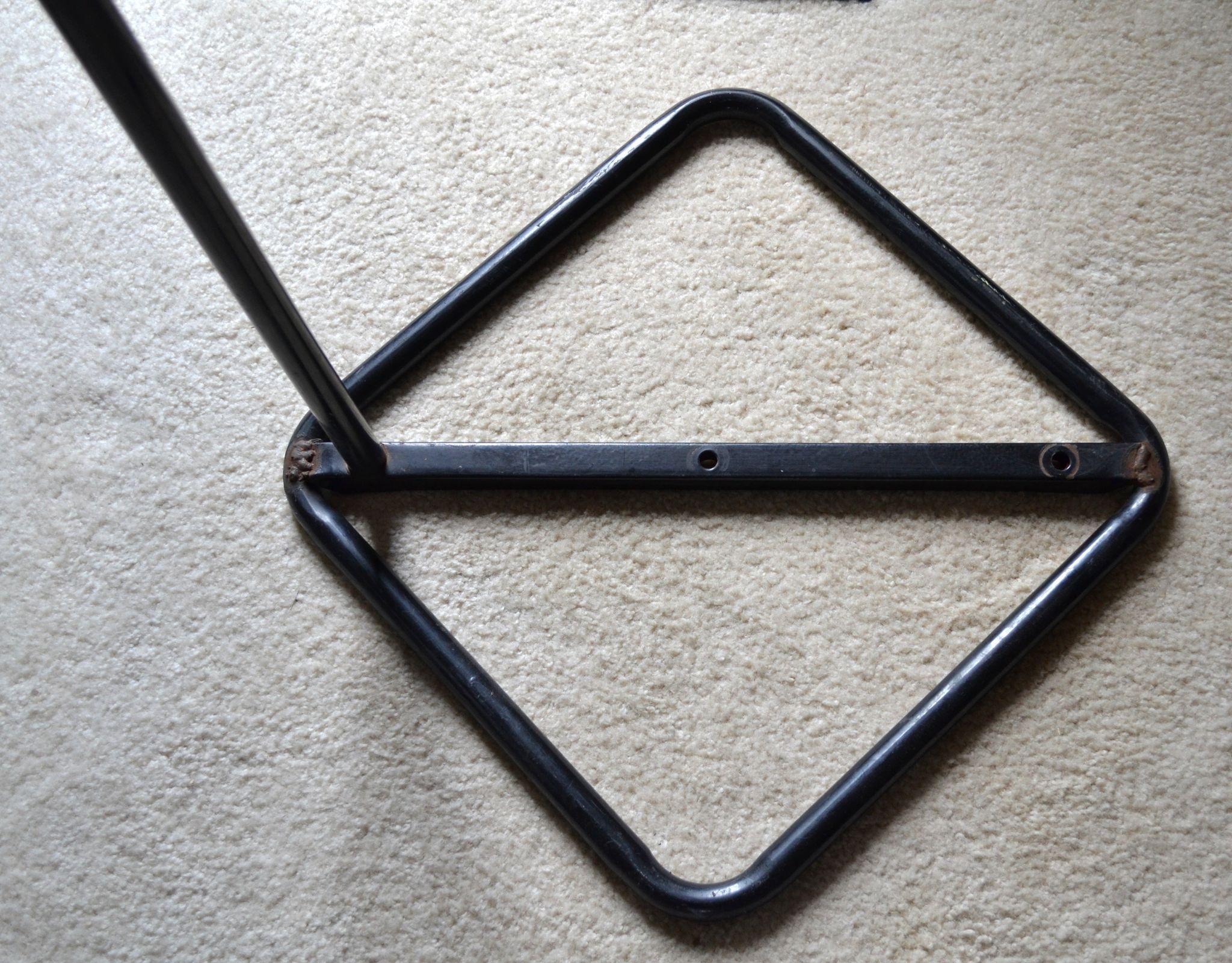 Mod Life Size Black Tubular Metal Unisex Mannequin Form
