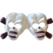 Large 3D Double Skull Halloween or Pirate Cake Topper Decoration