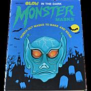 Glow in the Dark Halloween Monster Masks Book