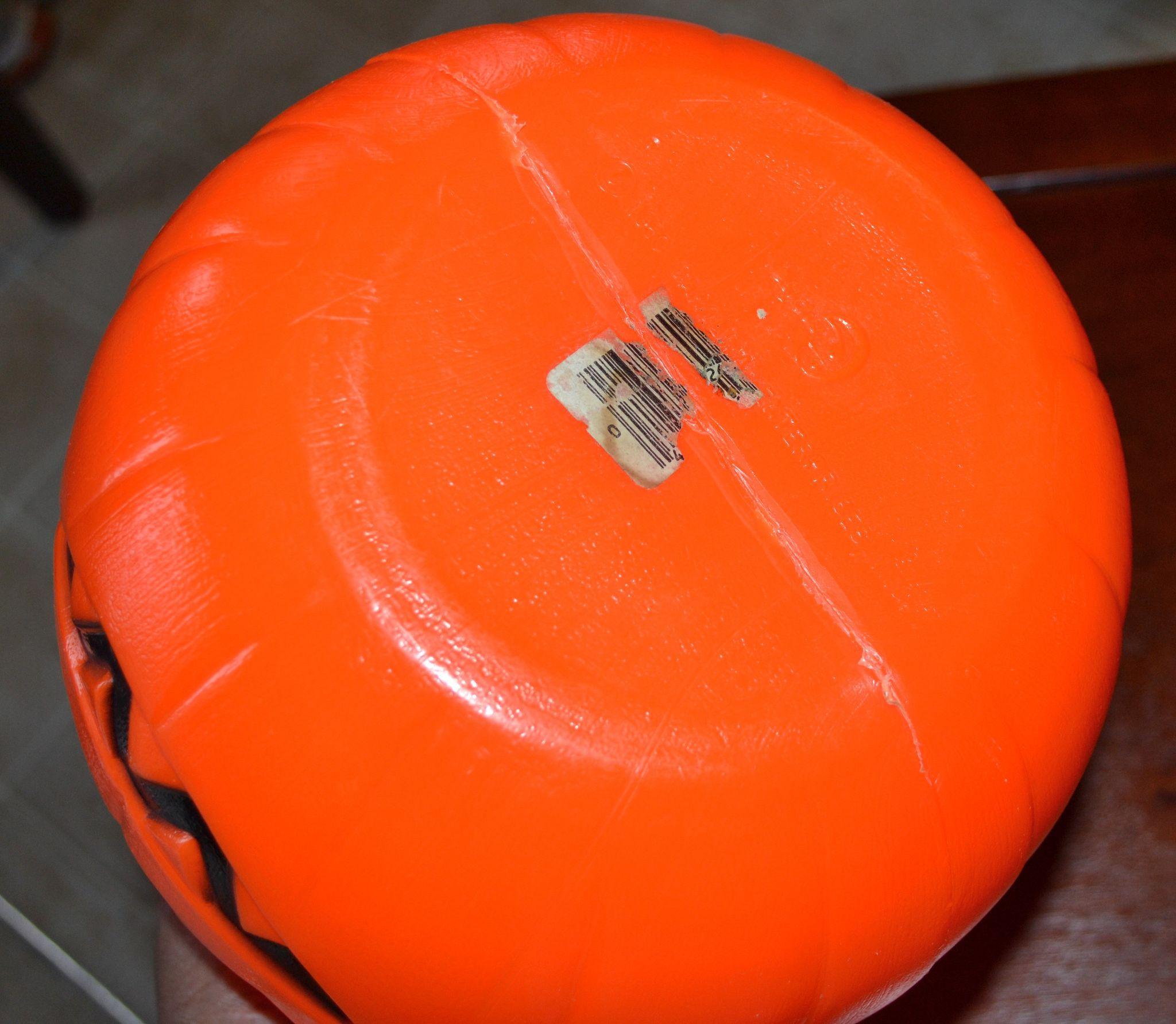 1980 Empire Blow Mold Plastic Orange Jack O Lantern