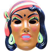 1960s Gypsy Fortune Teller Halloween Mask