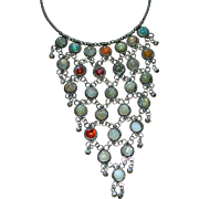 Drippy Genuine Stone Large Bib Wicked Awesome Necklace