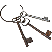 Massive Architectural Cast Iron Skeleton Key Set ~ Cemetery or Jailhouse :)