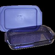 Pyrex Purple Amethyst Glass 3 Quart Cake Pan or Baking Dish with Lid