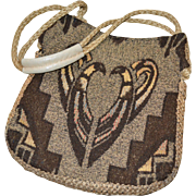 1960s Carpetbags of America Woodstock Boho Tribal Pattern Handbag Purse