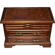 Gothic Dark Wood 3-Drawer Velvet Lined Jewelry Box
