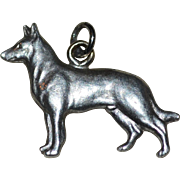 Sterling Silver German Shepherd Dog Charm or Small Pendant