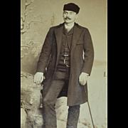 Distinguished 'William Warren' Winter Scene Olneyville, Rhode Island Cabinet Card Photo