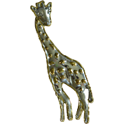 Huge Mexican Artisan Made Giraffe Pendant Pin