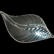 Laurel Burch Silvertone Leaf Brooch/Pin