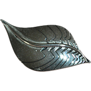 Laurel Burch Silvertone Leaf Brooch/Pin