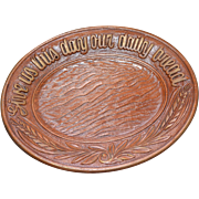 1954 Multi-Products GIVE US THIS DAY OUR DAILY BREAD Syroco Faux Wood Plate or Platter