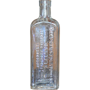 California Fig Syrup Elixir of Senna Laxative Apothecary Glass Bottle