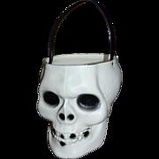 Empire Blow Mold Skeleton Skull Halloween Candy Pail Bucket