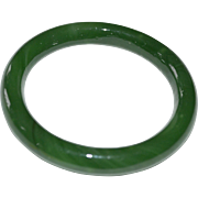 Deep Apple Green Glass Bangle Bracelet