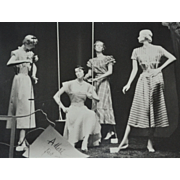1930s Adler's Department Store Fashion Mannequin Display 8 x 10 Original Photograph
