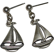 Beau Sterling Silver Sailboat Post Earrings