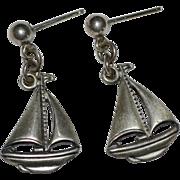 Beau Sterling Silver Sailboat Post Earrings