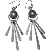 ATI Sterling Mexico Ball & Fringe Dangle Earrings