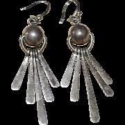 ATI Sterling Mexico Ball & Fringe Dangle Earrings