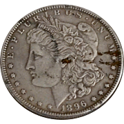 Circa 1896 Circulated Morgan Silver Dollar