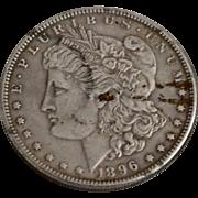 Circa 1896 Circulated Morgan Silver Dollar