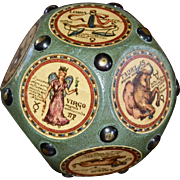 Large & Unusual Studded Zodiac Astrological Sign Collectible Paperweight