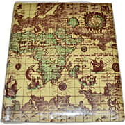 Old World Map w/ Loch Ness Monster Large Photo Album w/ Bonus 3 Pics!