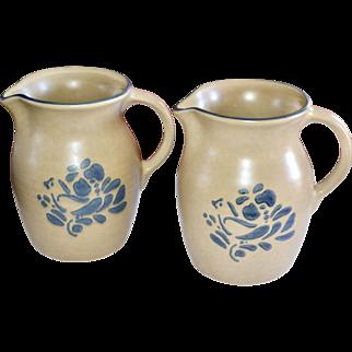 Pfaltzgraff Folk Art Ceramic Pottery 32 oz Pitcher ~ 2 Available